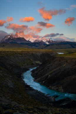Argentinien Patagonien Rio De Las Cuevas Fitz Roy
