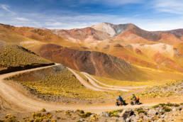 Argentinien Provinz Salta Pass Abra del Acay Radfahrer Abfahrt