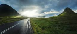 Island Snæfellsnes Kirkjufell Mountain Regen