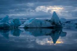 Island Jökulsárlón Eisberg Sonnenlicht