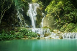 Laos Kuang Si Wasserfall bei Luang Prabang Langzeitbelichtung