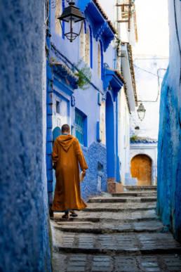 Marokko Chefchouen Blaue Stadt Berber Enge Gasse
