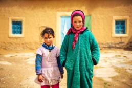 Mädchen Geschwister Berber Hoher Atlas Marokko