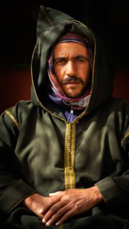 Marokko Hoher Atlas Mann Berber Gewand
