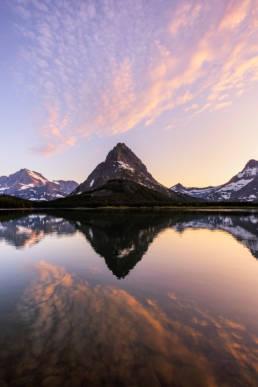 Montana Glacier Nationalpark Mount Grinnell Spiegelung