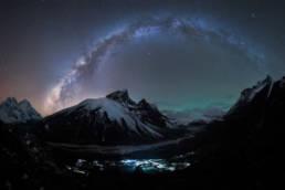 Nepal Himalaya Pheriche Milchstrassenpanorama Airglow