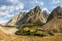 Pakistan Gilgit Baltistan Khaplu Panorama