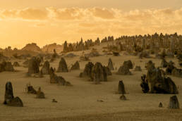 Westaustralien Nambung Nationalpark Pinnacles Sonnenaufgang