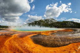 USA Wyoming Yellowstone Nationalpark Grand Prismatic Spring Farben Panorama