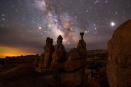 USA Utah Bryce Canyon Milchstrasse über Hoodoos